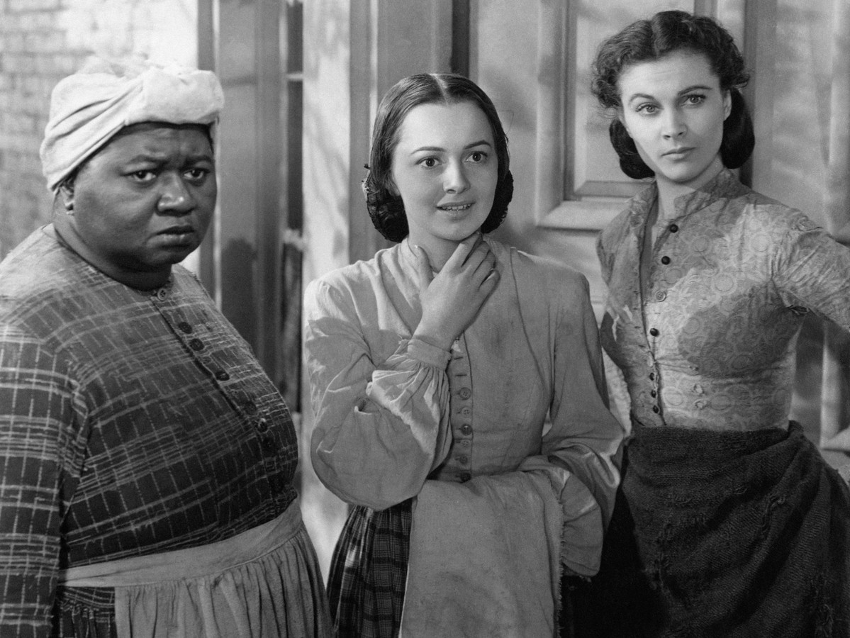 Vivien Leigh, Olivia De Havilland and Hattie McDaniel in a scene from the movie Gone with the Wind