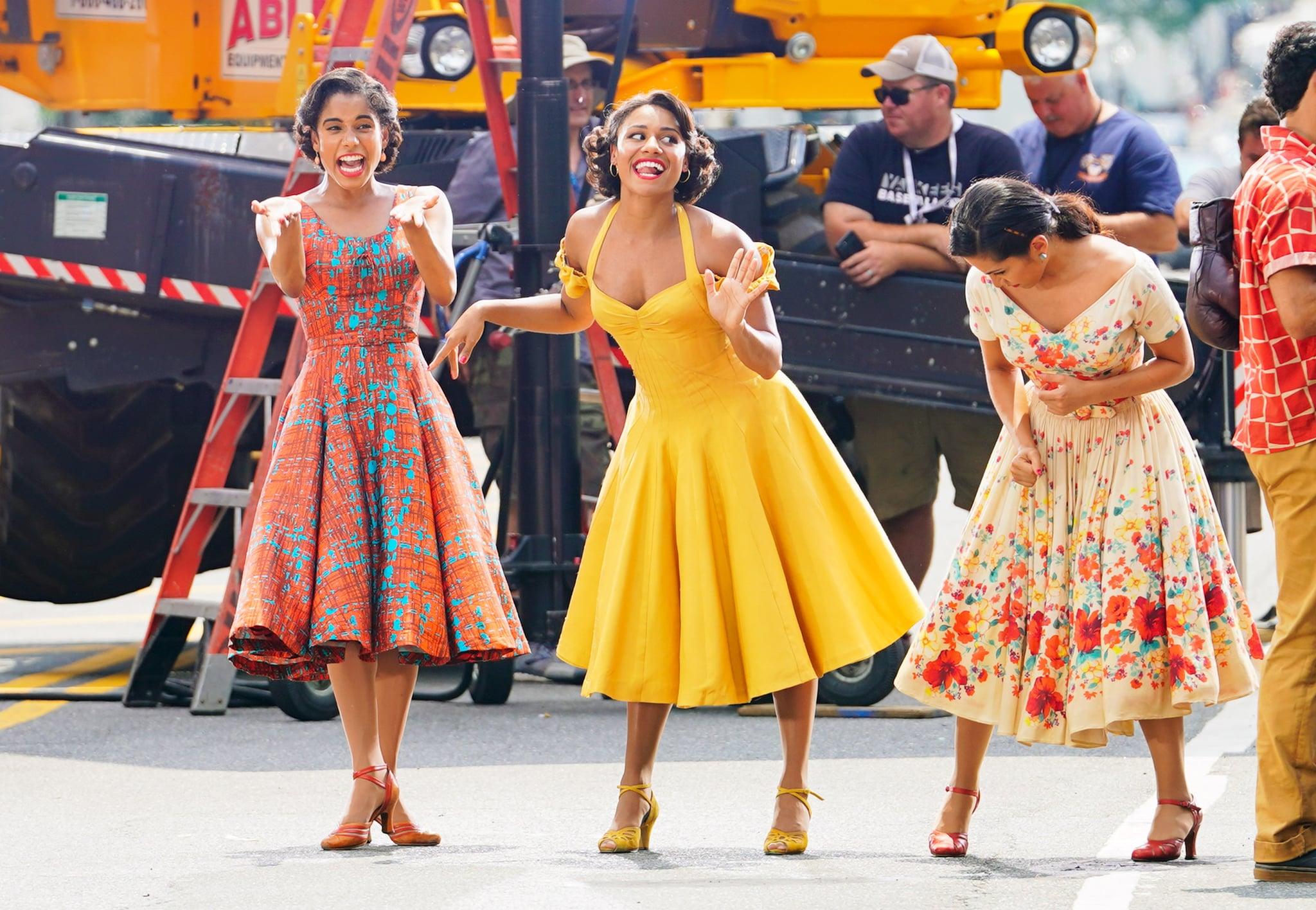 Three women in 1960s dresses