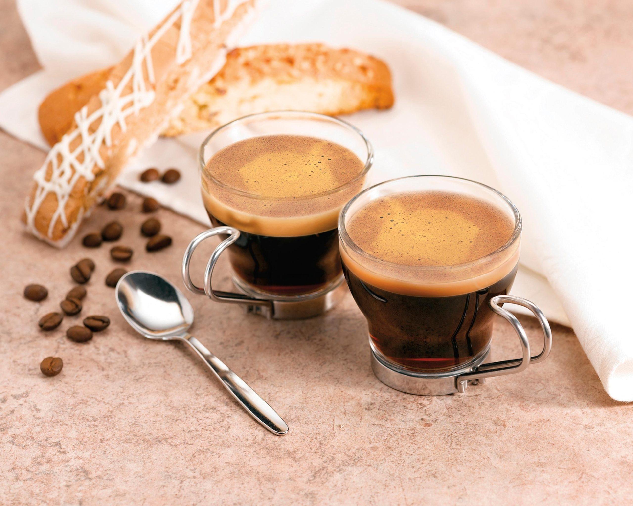 Two glasses of espresso