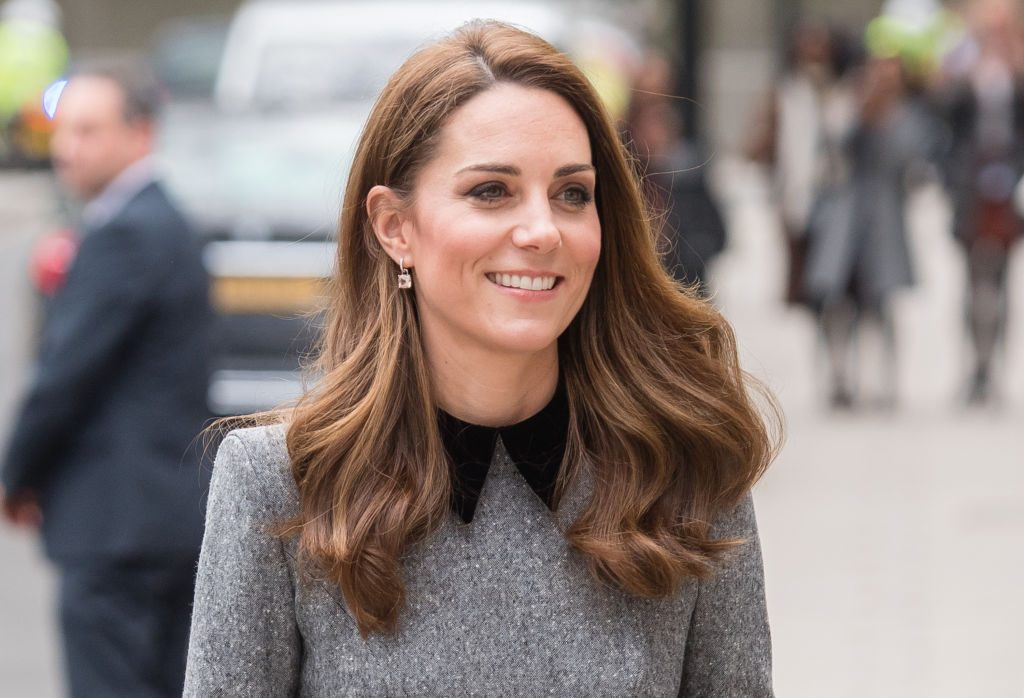 Kate Middleton smiling while out and about
