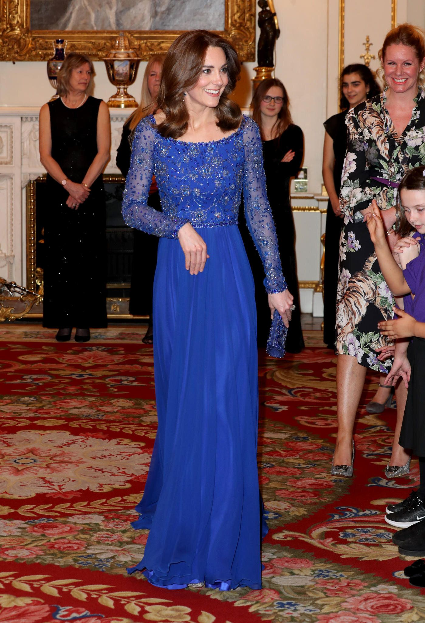 Kate Middleton re-wearing the royal blue dress at a recent event