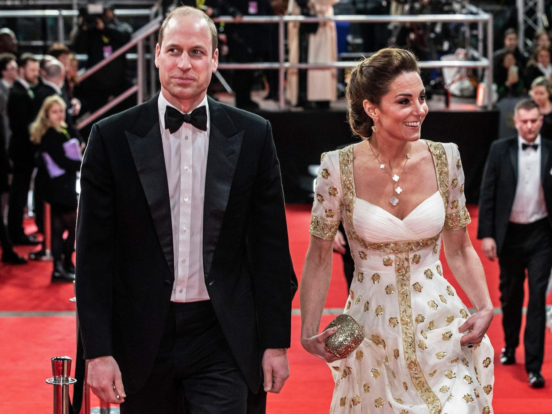 Kate Middleton and Prince William attending the 2020 BAFTAs
