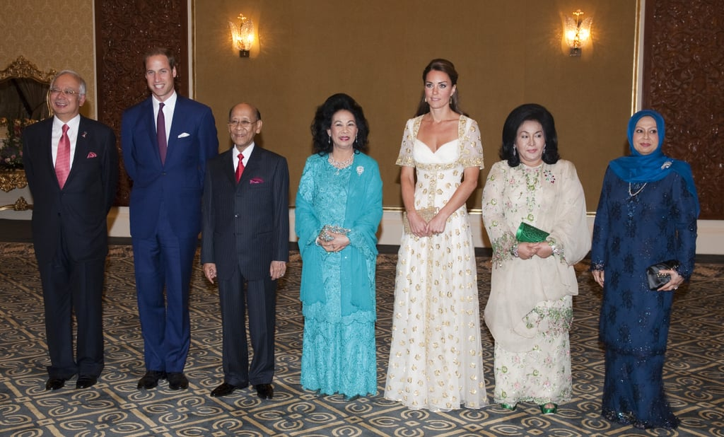 Kate and William with a Malaysian officials in 2012