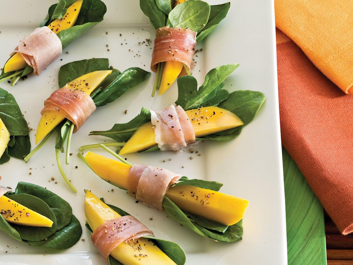 Prosciutto-Wrapped Mango Bites