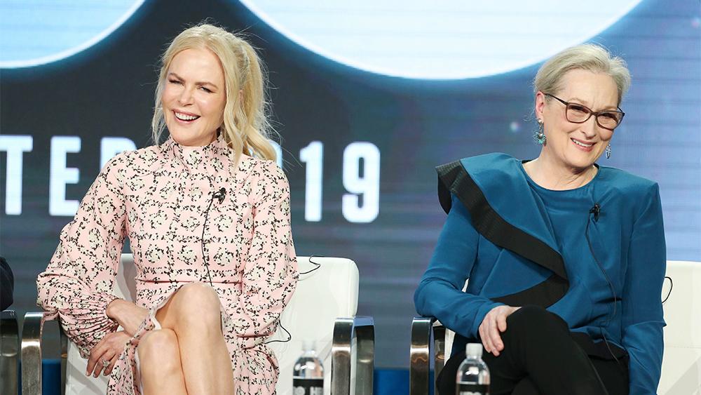 Meryl Streep and Nicole Kidman at a press conference