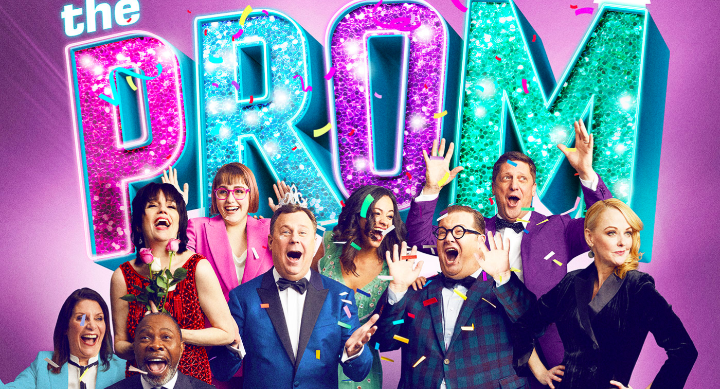 The cover poster of the Broadway version of The Prom