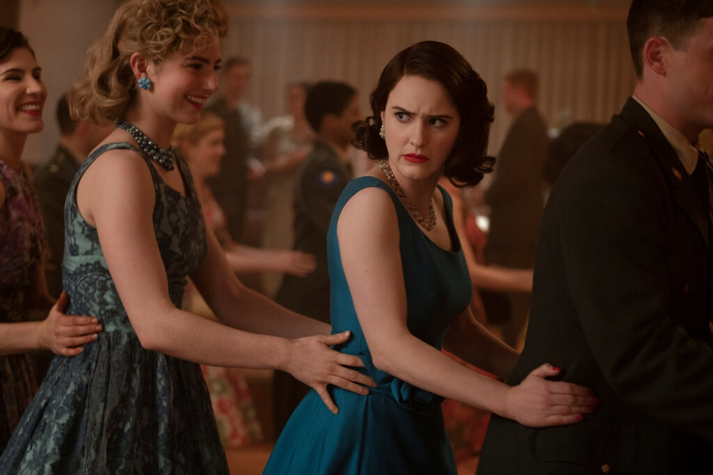 A scene from The Marvelous Mrs. Maisel that includes dance