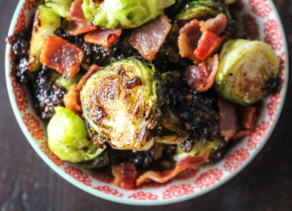 Salty, Caramelized Brussels Sprouts with Guanciale