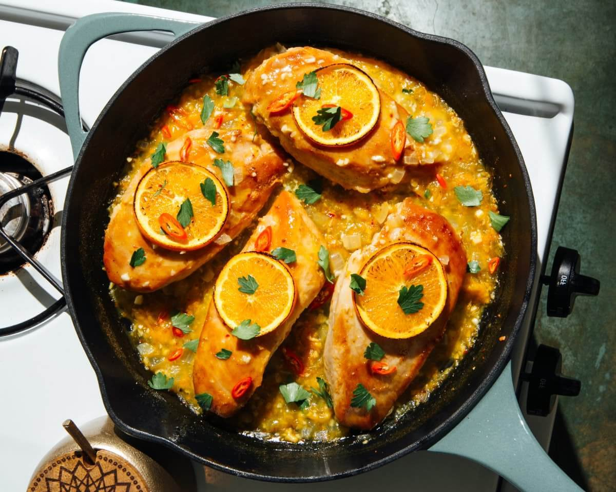 One-Skillet Orange Chicken