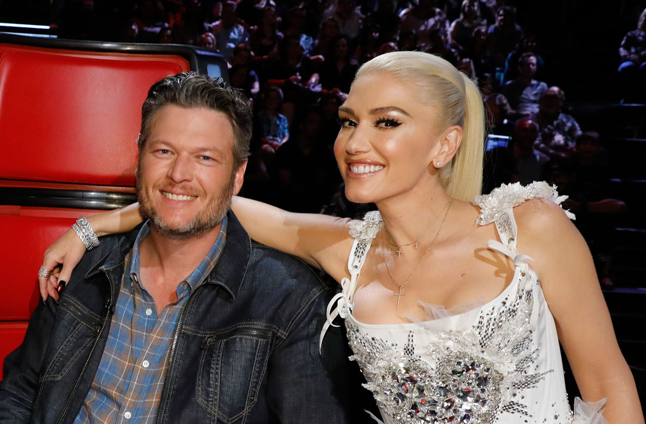 Blake Shelton and Gwen Stefani as judges on The Voice.