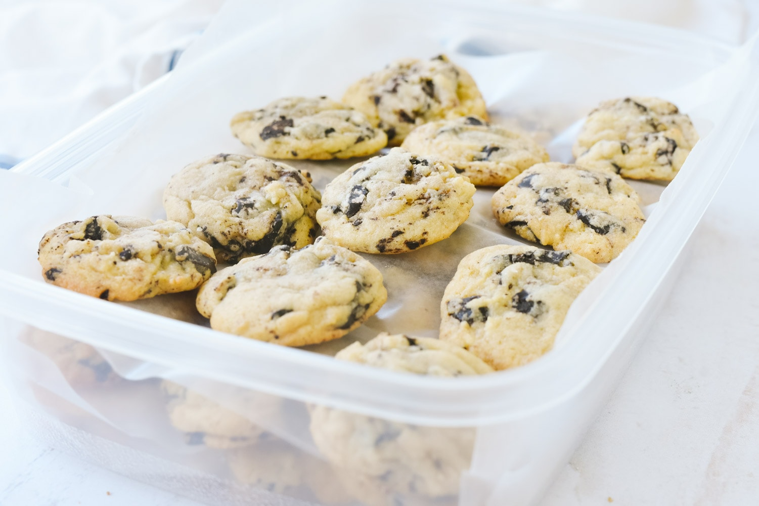 A box of chocolate chip cookies