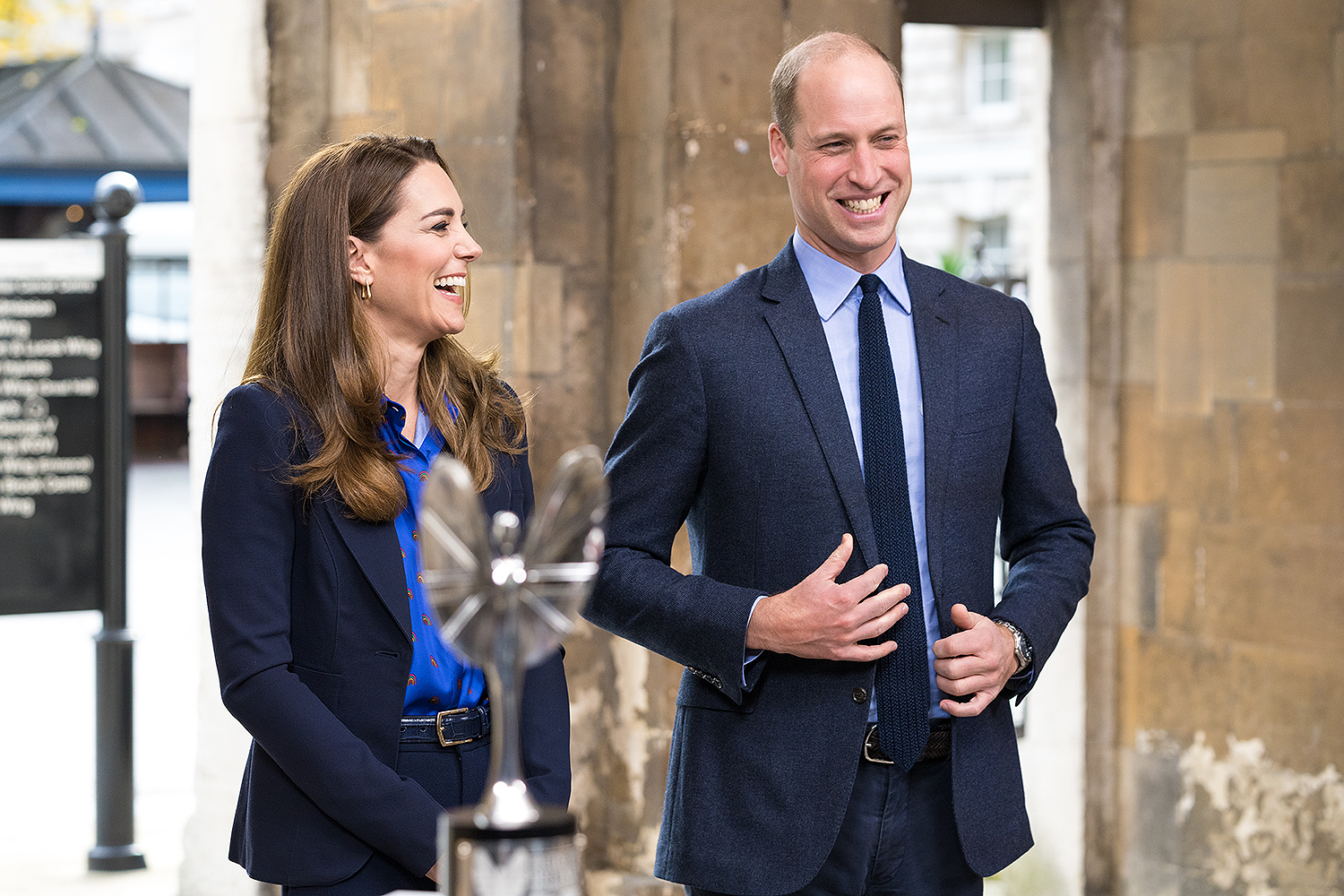Kate Middleton and Prince William meeting the finalists of her Hold Still photography project