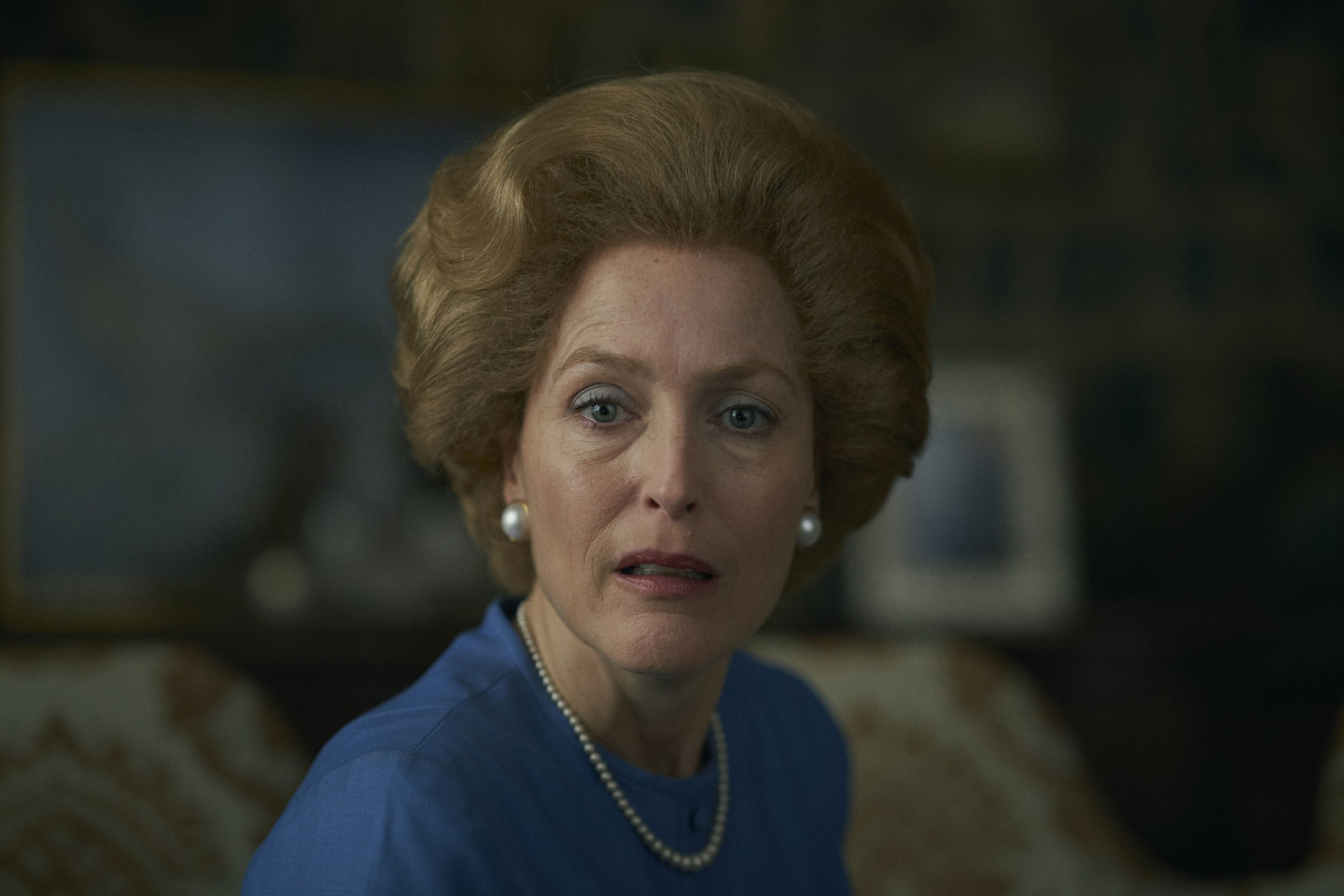 Gillian Anderson as Margaret Thatcher on The Crown season 4