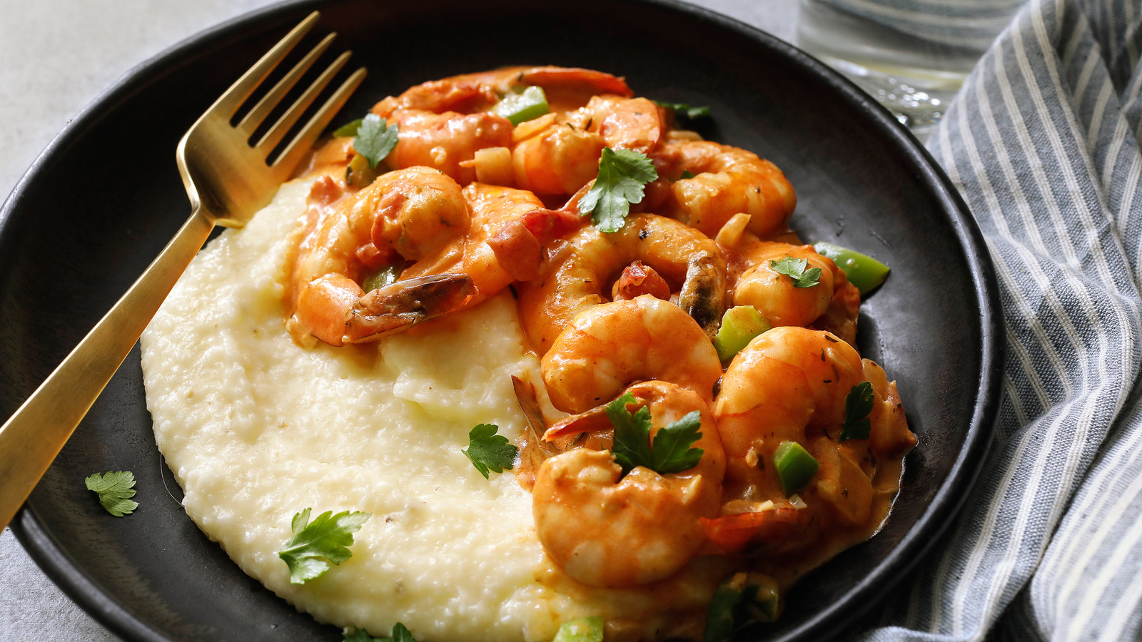 5-Minute Grits With Shrimp