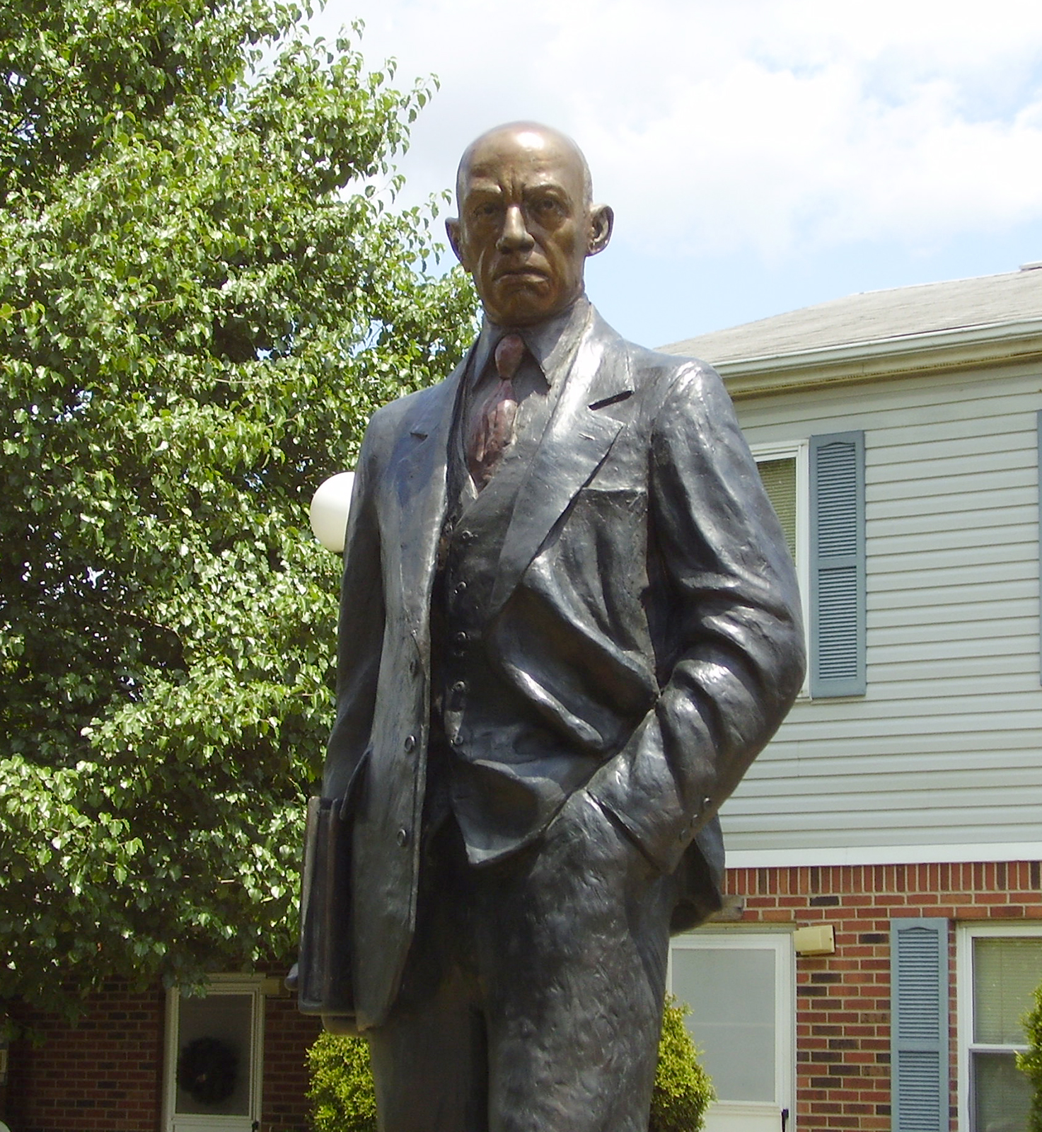 Statue of Woodson, the man behind the Black History Month holiday, in Huntington, West Verginia