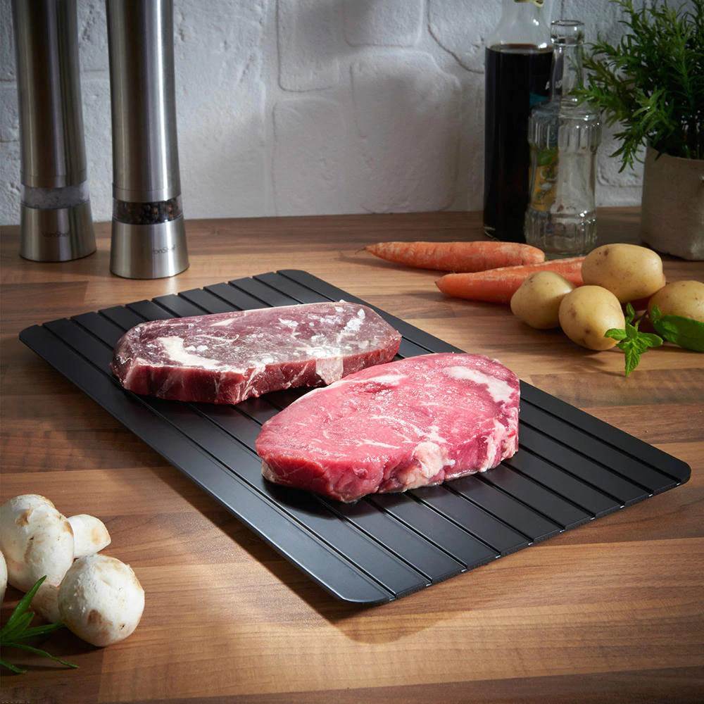 a defrosting kitchen tray