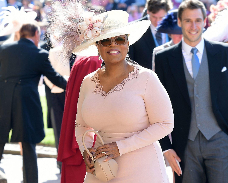 Oprah Winfrey attending Meghan and Harry's wedding in 2018