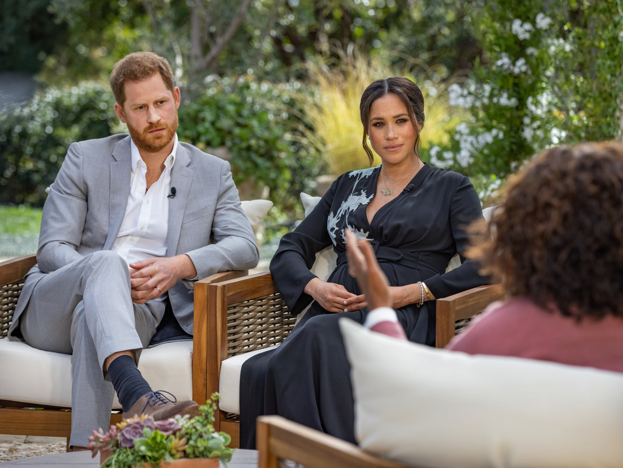 Meghan Markle and Prince Harry during the Oprah interview