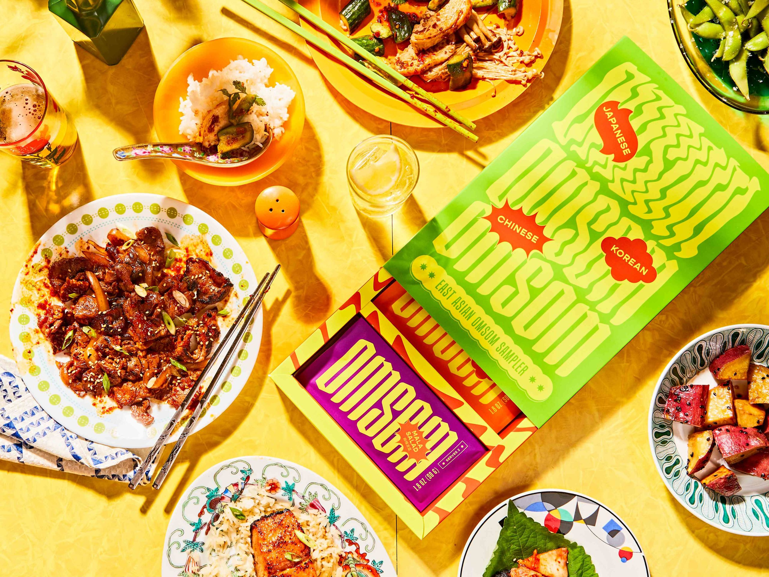 Omsom products are designed to help people easily prepare elaborate Asian dishes.