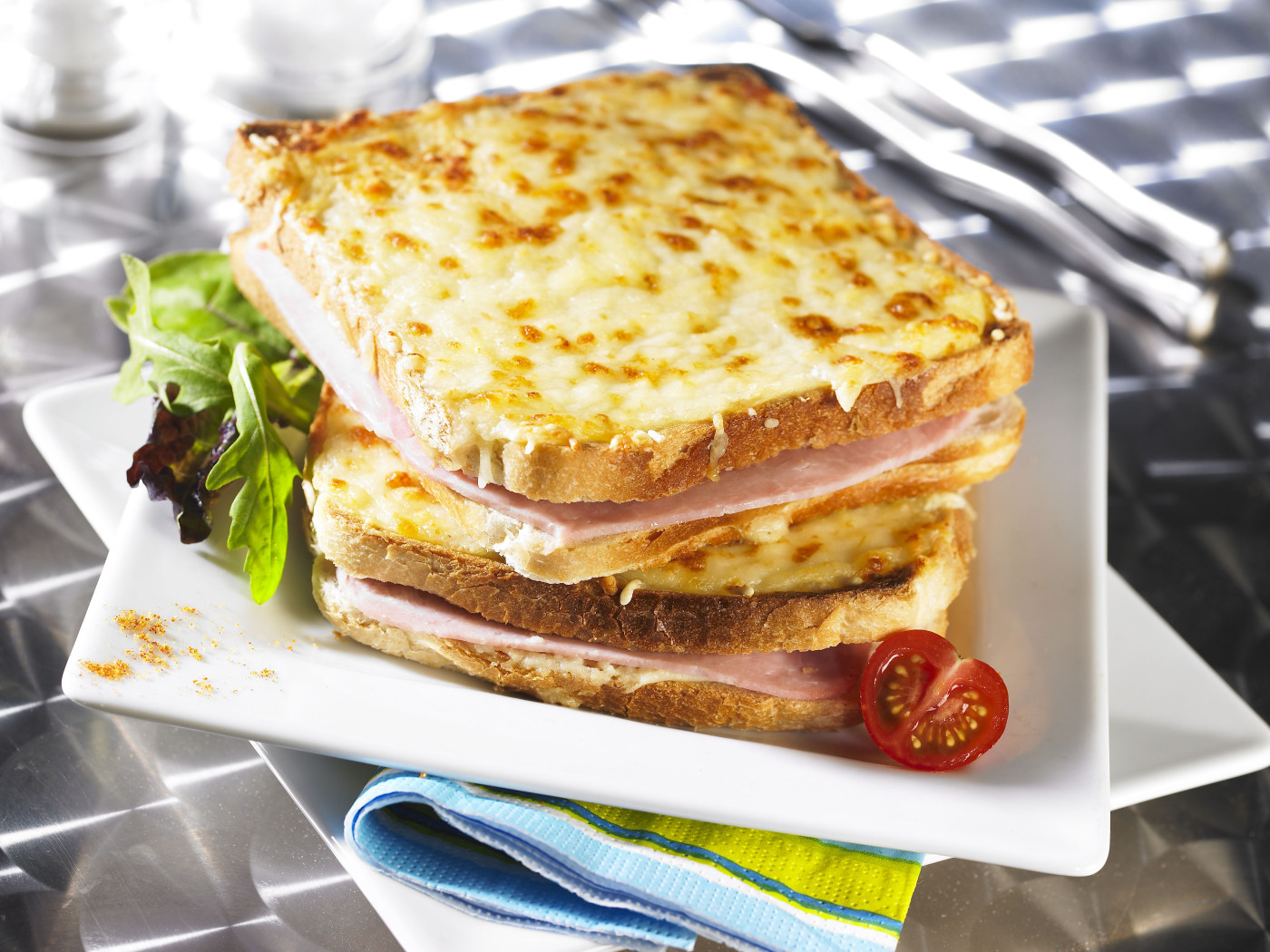 A plate of Croque Monsieur